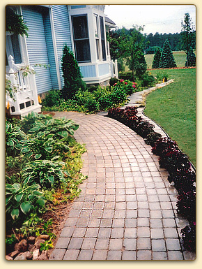 Brick walk-way in Traverse City, Michigan